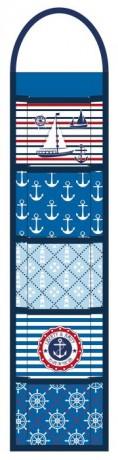 Анонс-изображение товара органайзер настенный арт.44978 морская тематика (полиэстер и микрофибра, 5 карманов